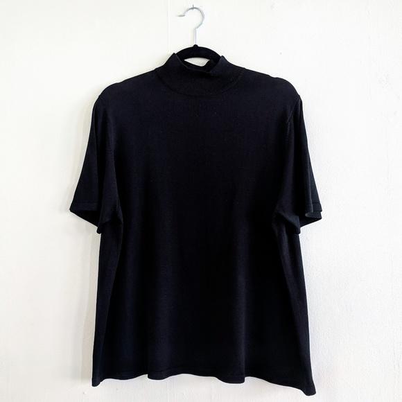 4b2370bdda4ccc Lord & Taylor Tops | Lord Taylor Mockneck Silk Shortsleeve Sweater ...